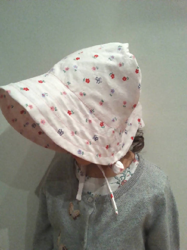 Adjustable Bonnet - Embroidery Spring Time