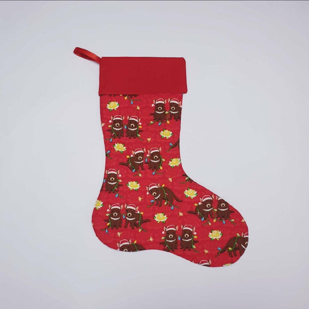 Personalised Tasmanian Devil Stocking