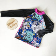 Girls' Floral Butterfly Swim Rashie