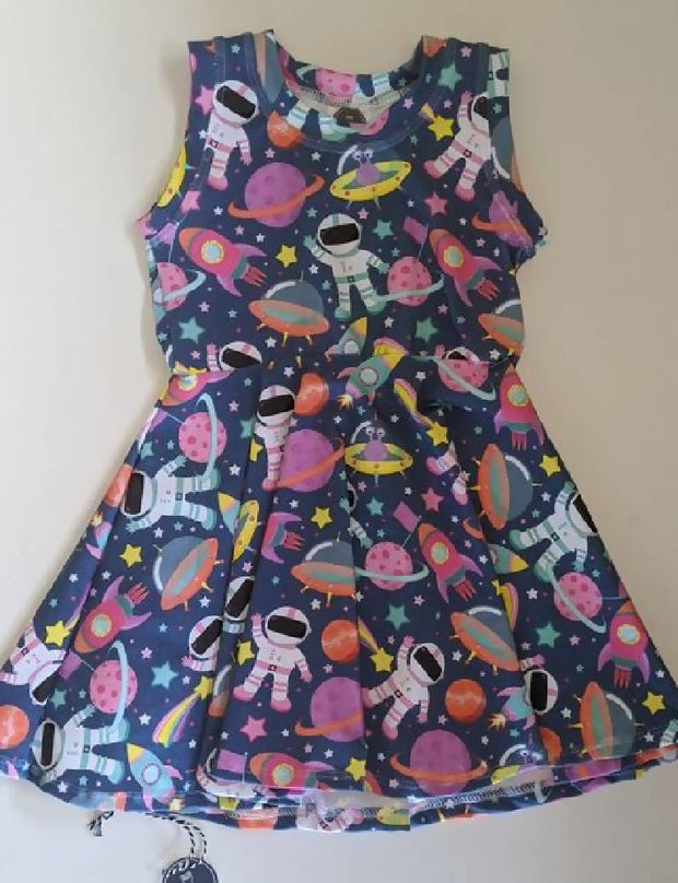size 3 ' i wanna be an astronaut full twirl dress