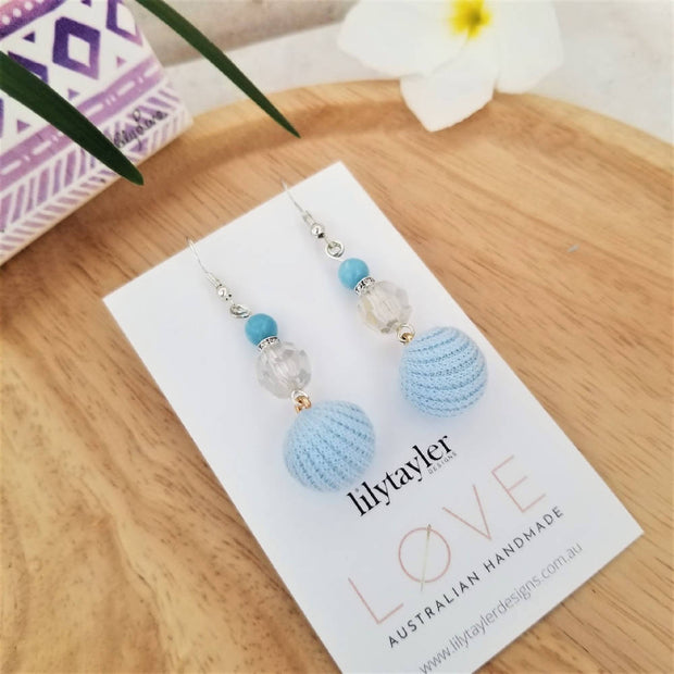 Sale! Crochet Crystal Earrings
