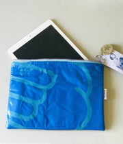 iPad, E-reader or Surface Pro protective sleeve - recycled pool inflatables