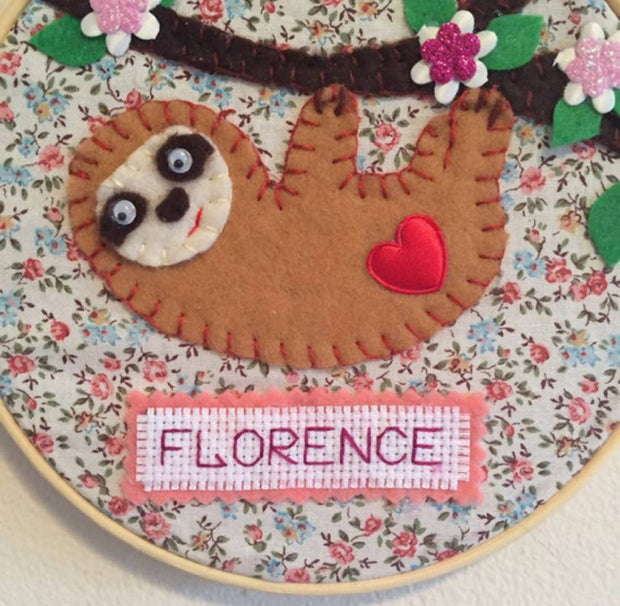 Personalised Sloth wall decor