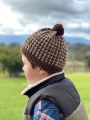 Children's beanies with pom poms - fits age 3-4 years