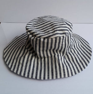 Reversible Linen Wide Brim Floppy Sun Hat - Toddler, Teen, Adult