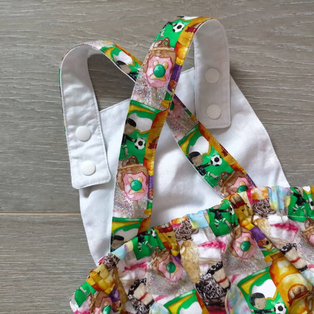 Aussie treats romper. Australia day outfit, Aussie day romper, Aussie icons overall romper