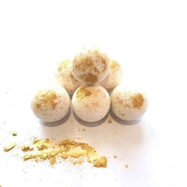 Six Bomb Gold Bath Bombs