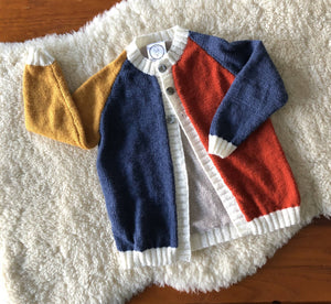 Block Plain Cardigan