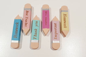 Personalised Pencil Shaped Magnet Set