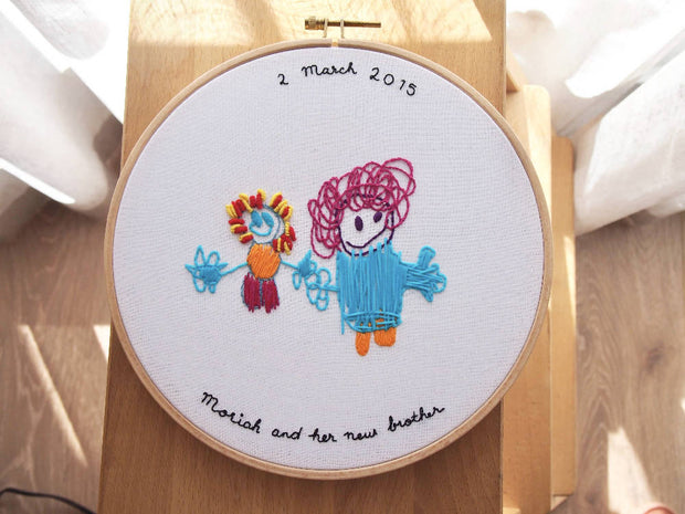 Custom Embroidery - Children's artwork