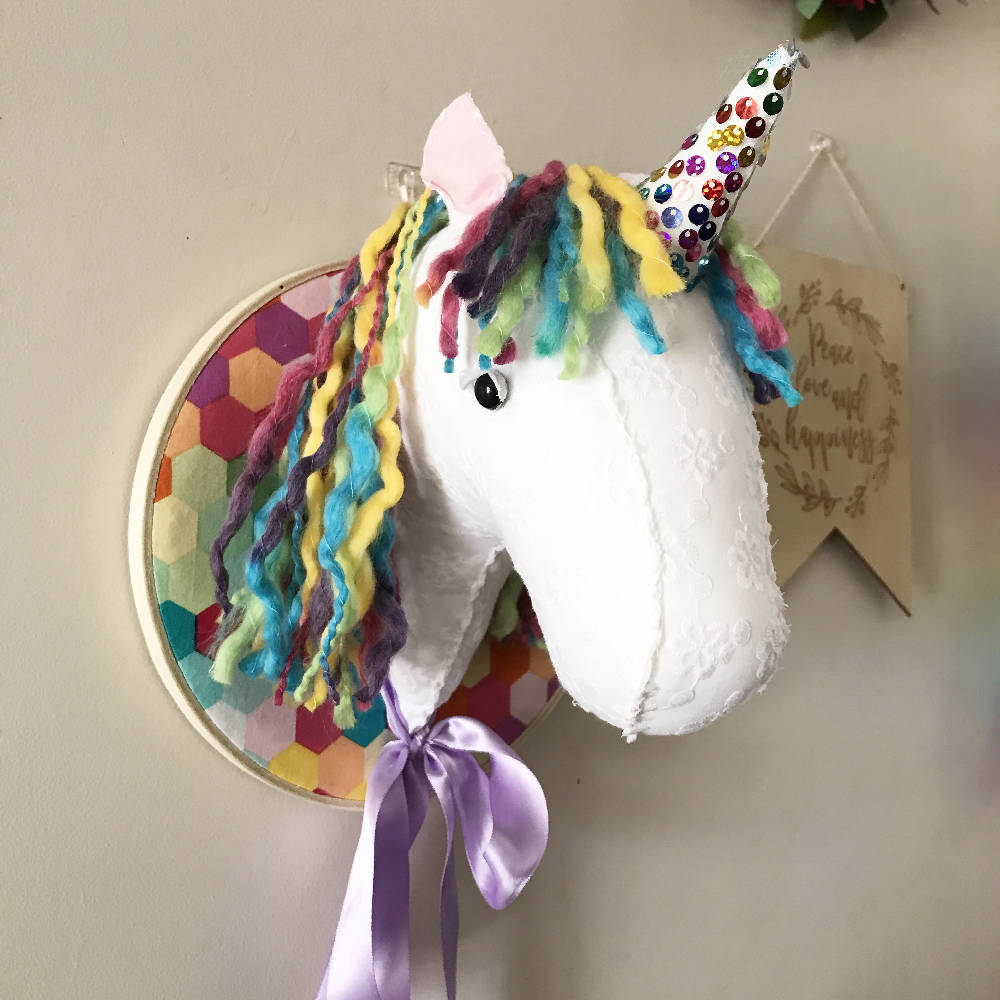 Rainbow Unicorn Faux Taxidermy