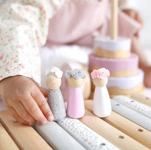 Flower Crown Wooden Peg Sets