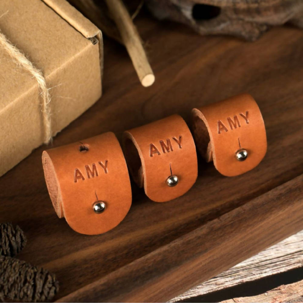 Leather Cord Organiser - Set of 3