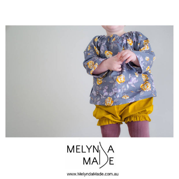 MelyndaMade HAndmade Baby clothes Mauve Bloomers
