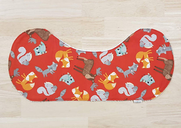 Baby Burp Cloths - Foxy Friends (Set of 4)