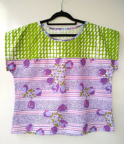 Spring Tee - relaxed fit top - size 14