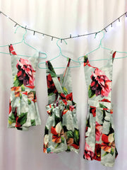Floral cotton overalls
