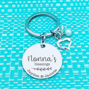 Mum & Grandparent Gifts - Mum's Blessings Personalised Name Keyring (dedicate it to a person of your choosing!)