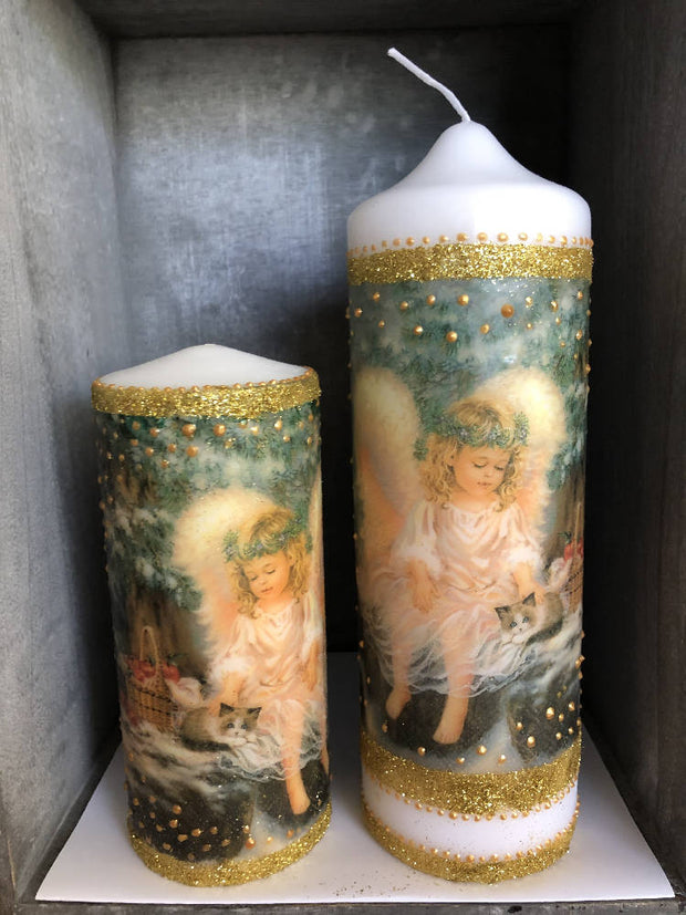 Christmas Angel Candle - Large