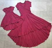 Girls Red Bamboo Dress