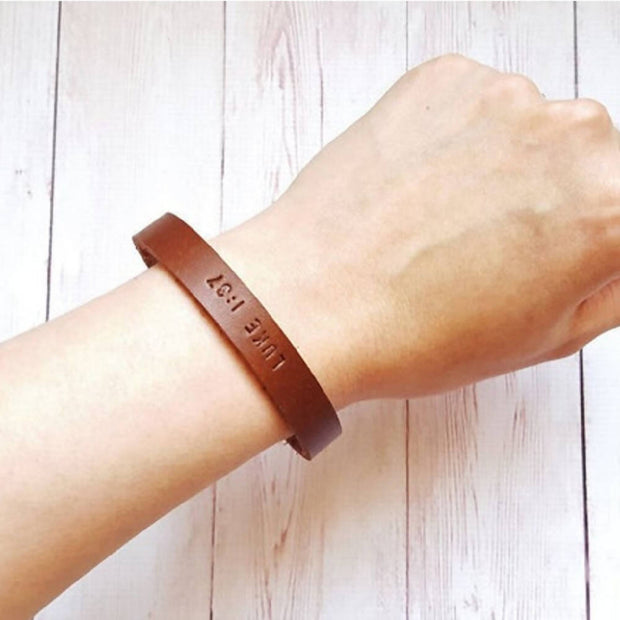 Personalised Leather Bracelet