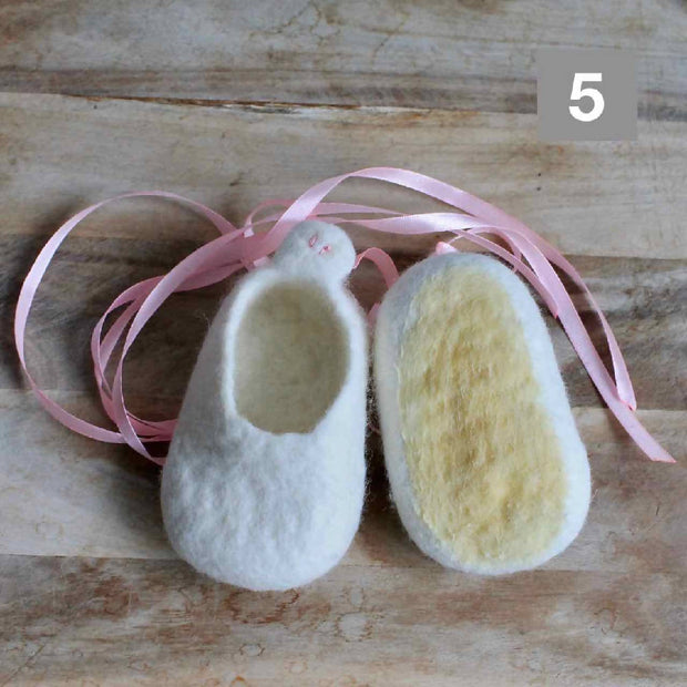 SALE - Ready to ship - 30% Canberra Clogs - Wool Felted Baby Shoes