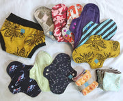 Cloth Menstrual Sanitary Pads - 5 x MEDIUM