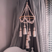pink baby cot tassel mobile by Little Cloud Lane
