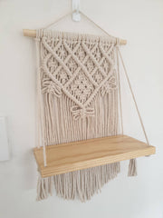 Natural Macrame Shelf