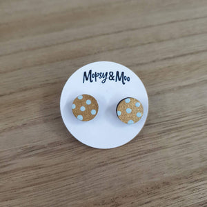 Hand-painted Polka Dot Earrings