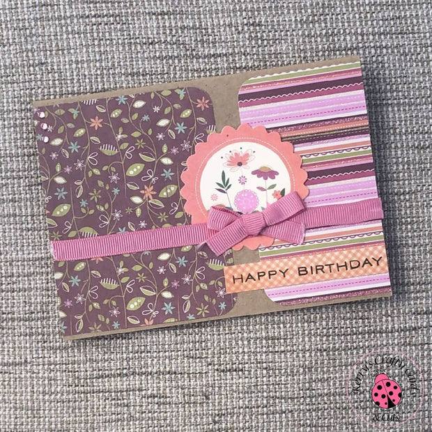 HAPPY BIRTHDAY FEMALE FLOWER CARD