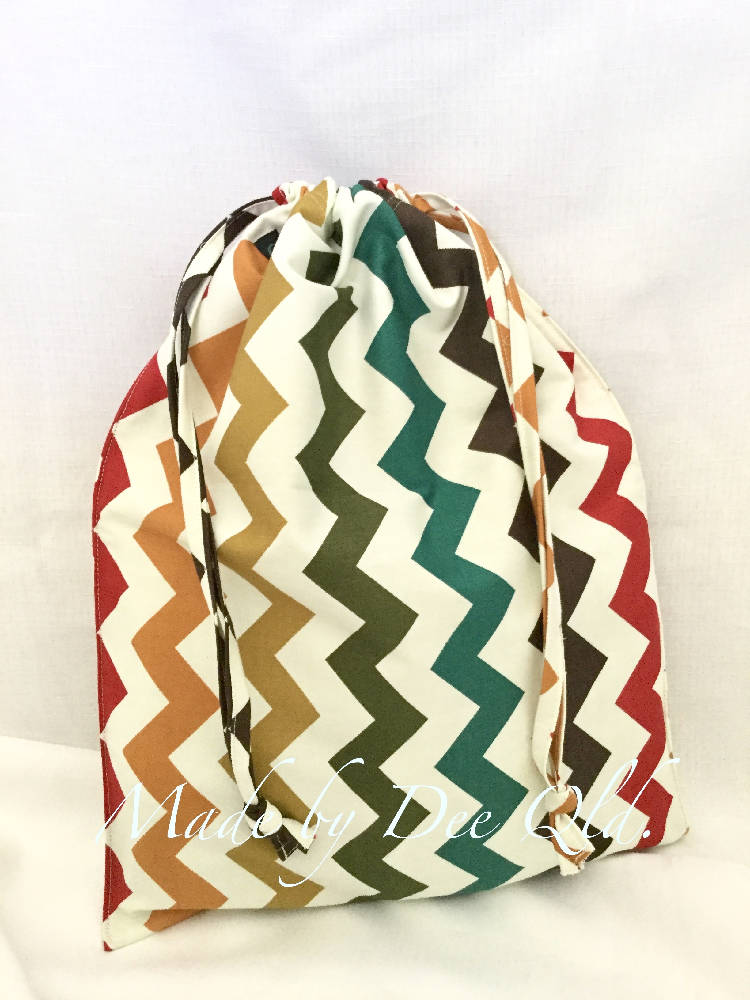 Drawstring Bag - CHEVRON Autumn