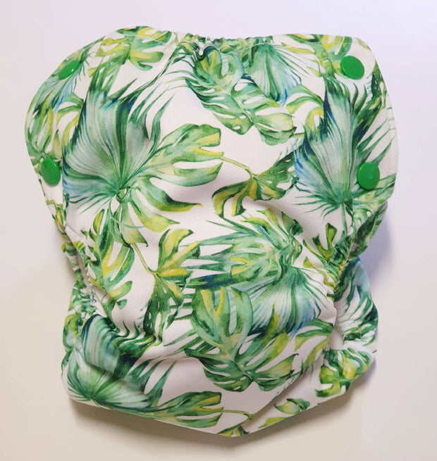 Tropical Leaves Modern Cloth Nappy Shell
