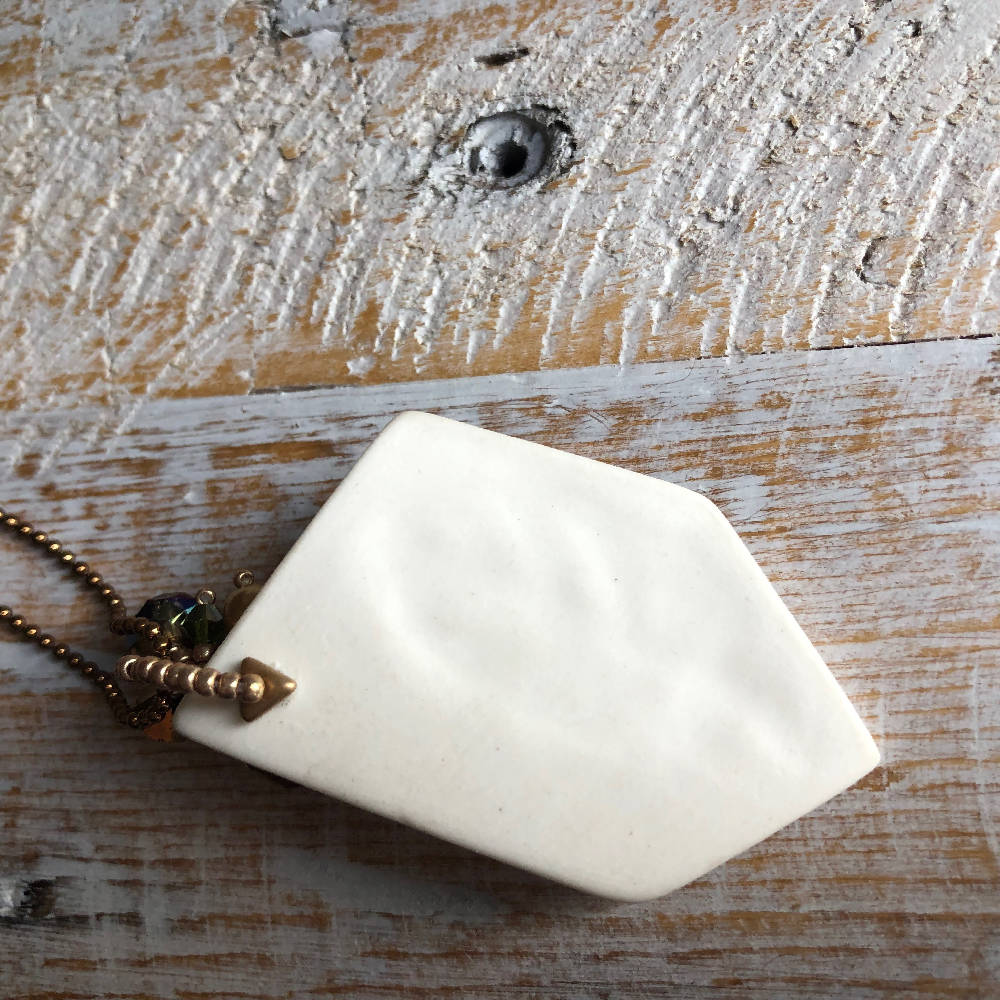 Simple Porcelain Leaf Pendant
