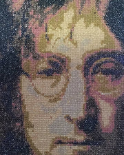 John Lennon embroidered portrait Print