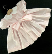 Smocked dress - pale pink - size 2 - one of a kind
