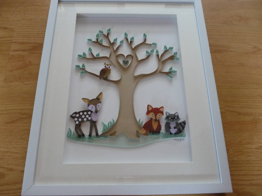Woodland Tree & Animals