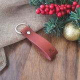 Personalised Monogram Leather Keyring