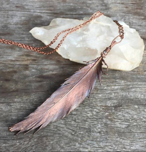 Feather necklace for Eleisha