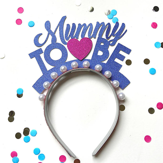Mummy To Be party headband/ Baby Shower/ Gender Reveal
