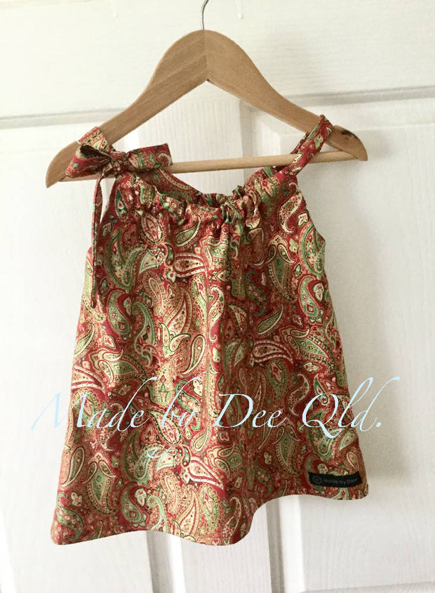 METALLIC PAISLEY | CHRISTMAS TUNIC TOP | SIZE 1