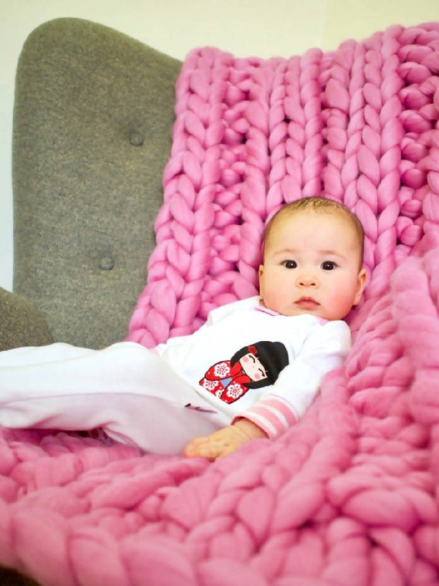 The Cocoon chunky knit blanket/throw