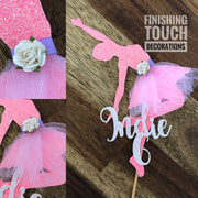 Ballerina Cake Topper - Personalised