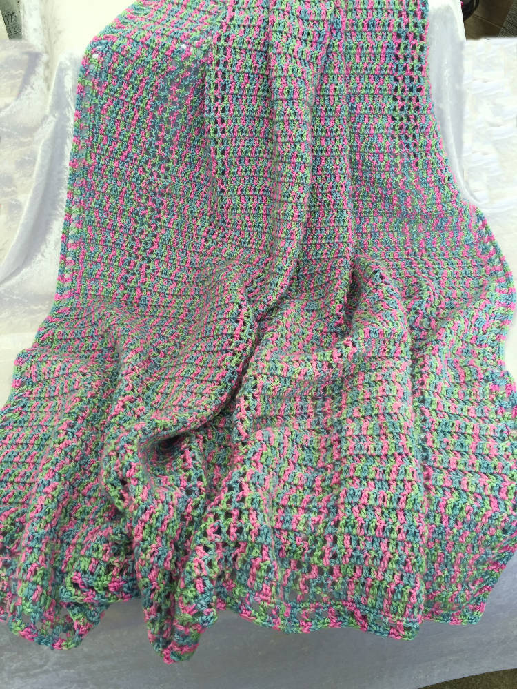 Crochet Handmade Blanket, Throw, Lap Blanket, Child