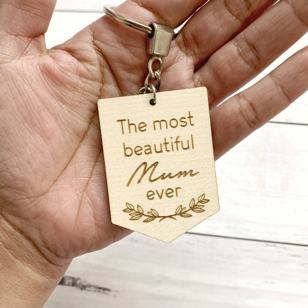Timber mum keyring / Mother's Day gift