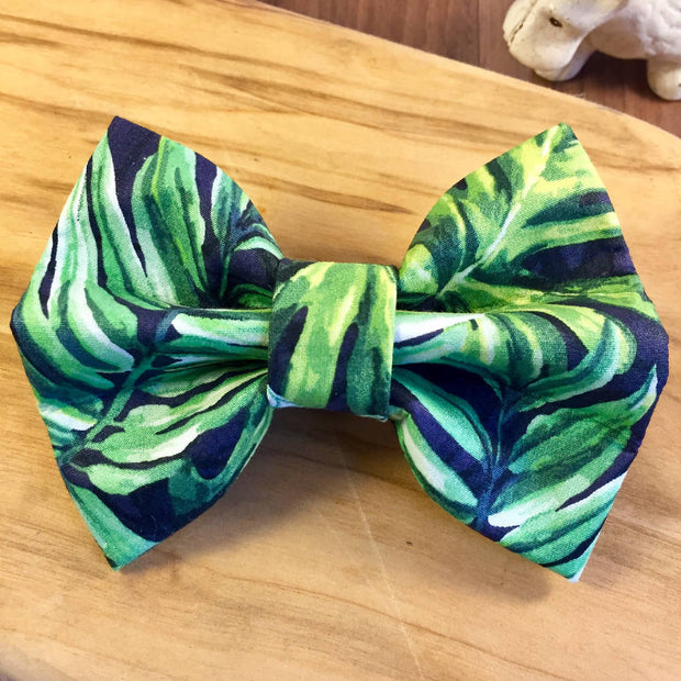 Pet Bow Tie Palm Leaf