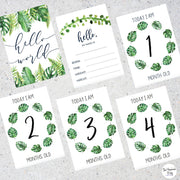 Leafy Green Baby Milestone Cards
