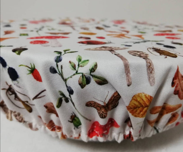 Reusable Fabric food covers- Forest creatures