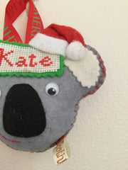 Personalised koala Christmas decoration