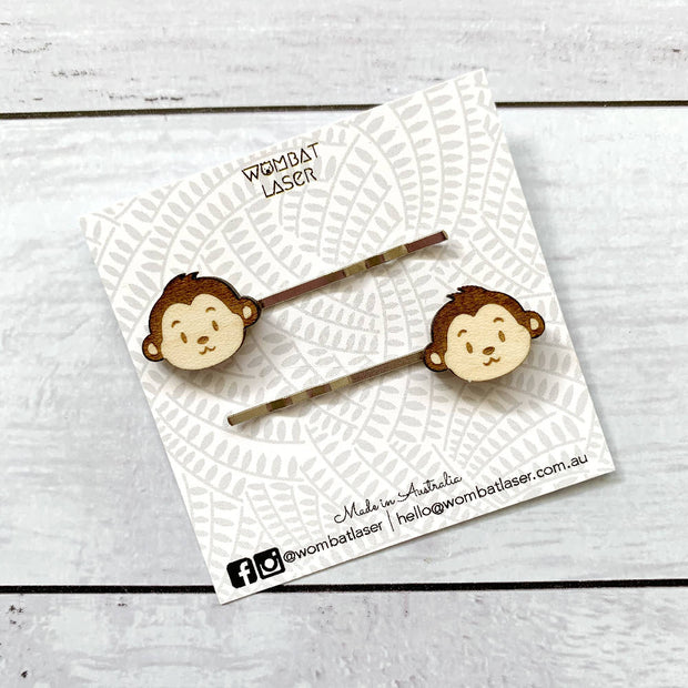 Monkey hair pins